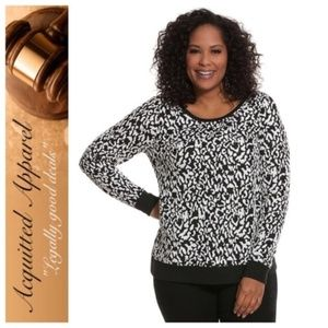 LANE BRYANT Leopard Print Sweater Pullover Top